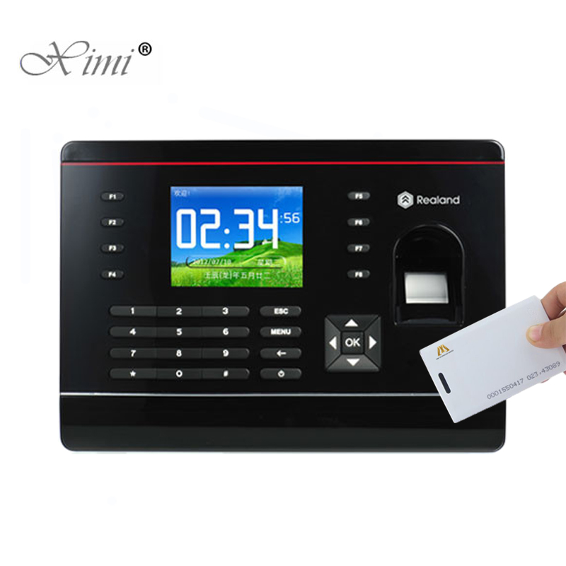 A-C061 P2P Cloud Service Fingerprint And RFID Card Time Attendance Biometric Fingerprint Time Recording Time Clock With TCP/IP