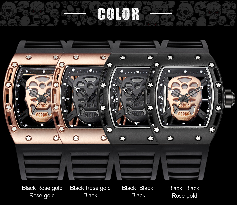 2017 Top brand Men's movement Trendy watch Pirates of the Caribbean Skull watch Men's watch waterproof Quartz watch baby watch наручные zip pirates 600533