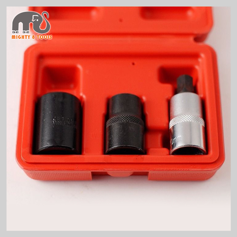 3pc 1/2 Dr. Cr-V Girling Pentagon Brake 14,19mm Five Star 5PT Socket & Bit Set For Girling Bendix Systems Garage Tool Set