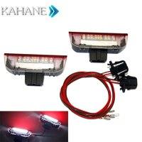 2PCS 18SMD LED Courtesy Lamp LEDs Side Door Light DC 12V White Welcome Light For VW