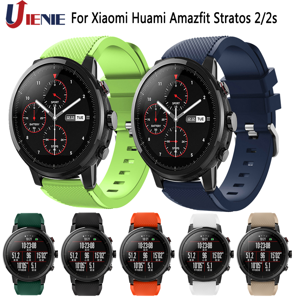 22mm Watchband Strap For Xiaomi Huami Amazfit Stratos 2 2s/GTR 47mm Band Silicone Sport Smart Watch Bracelet For Samsung Gear S3