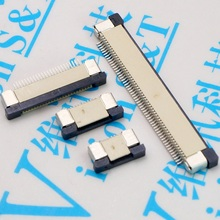 FPC Pitch 0.5mm 4/6/8/10/12/14/16/18/20/22/24/26/28/30/32/36/40/50/54/60Pin Drawer Connector SMT Type Ribbon Flat Top Contact