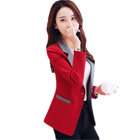 2018 Spring Summer New Ladies Business Suit Korean Slim Long Sleeve Casual Coats Women Short Blazers Suit Jacket A383