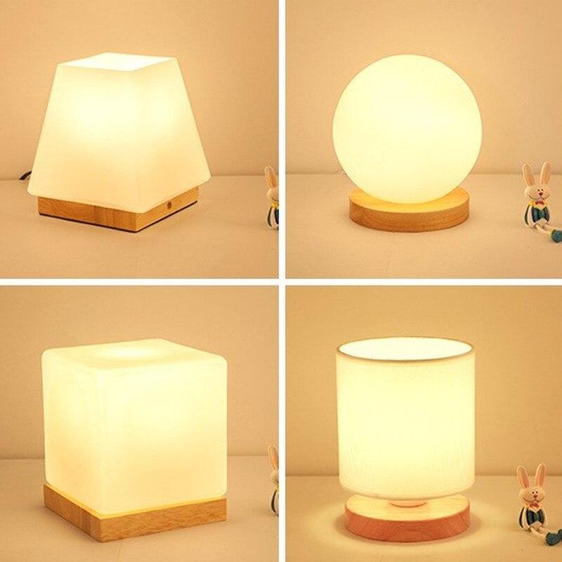 Nordic Log Glass Table Lamp Seminal Hotel Bedroom Bedroom Bedside Study Dormitory Warm Romantic Table Lamp