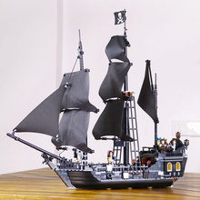 804pcs New LEPIN 16006 Pirates of the Caribbean The Black Pearl Building Blocks Set Minifigures Compatible Gift