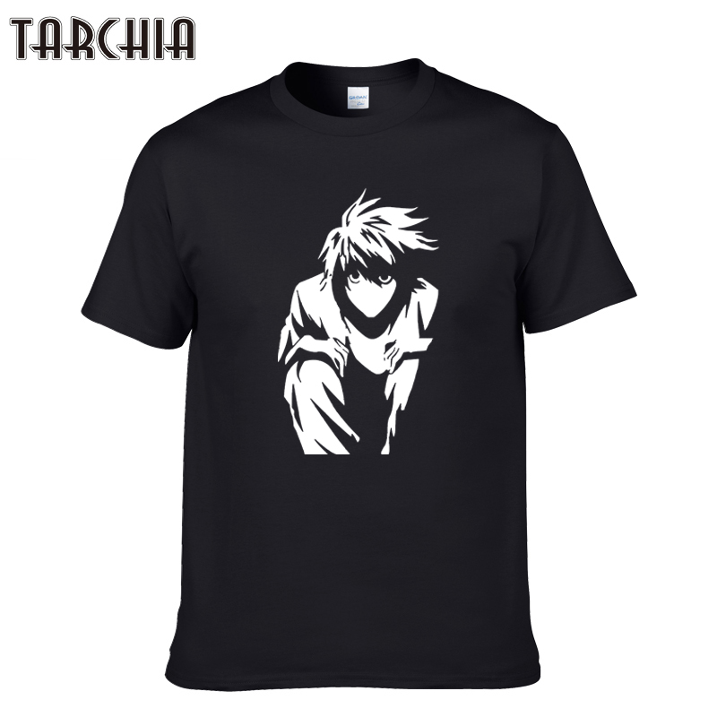 TARCHIA 2018 new l death note pullover male fashion t-shir cotton men short sleeve boy casual homme tshirt tops tees plus