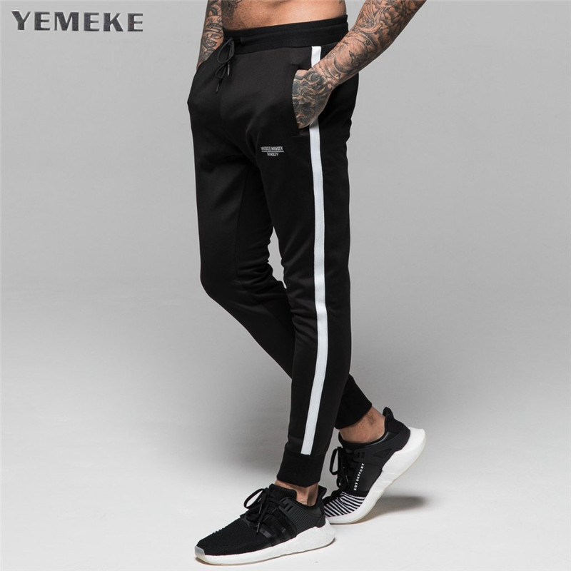 New Men Joggers Casual Pants Fitness Men Sportswear Tracksuit Bottoms Skinny Sweatpants Trousers Black Gyms Jogger Sweat Pants