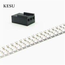 Hohe qualität Schwarz Molex 2510 3 Pin 3Pin Fan männlichen PWM Power shell stecker gehäuse + weibliche Terminal crimp pins