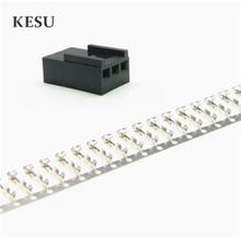 คุณภาพสูงสีดำ Molex 2510 3 Pin 3Pin พัดลมชาย PWM Power shell connector + หญิง crimp pins