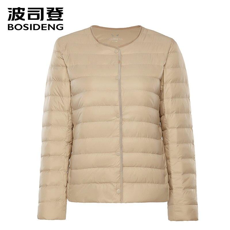 BOSIDENG 2018 Новый ранней зимы Женская одежда женские пуховик 90 куртка-пуховик ultra light высокого качества большие размеры B80130012B