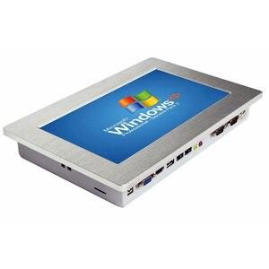 """Image 1 - 10.1 """"tela de toque industrial painel pc com 2 lan rj45 tablet pc intel processador mini pc suporte wi fi sim para controle industrial"""