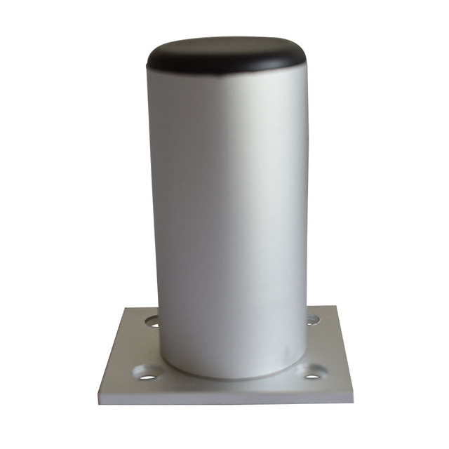 Aluminun Alloy 120mm Total Height Adjule Furniture Legs 10mm Max Cabinet Feet Caster