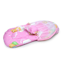 Portable & Foldable Baby Bed with Pillow, Mat and Netting