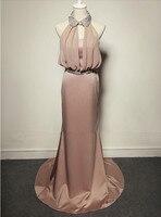 2019 Бесплатная доставка с лямкой на шее выпускные Длинные платья для вечеринки вечернее платье для выпускного вечера; Robe de soiree vestido de casamento longo