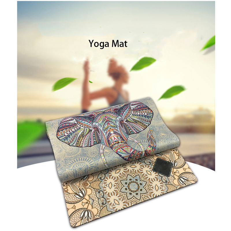 Leisure time sports Yoga mat The elephant printing comfortable Not smelly Not allergic environmental protection Natural rubber
