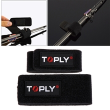 2 Pcs/set Fishing Rod Pole Tie Tackle Fastening Strap Belt Wrap Band Holder Accessories