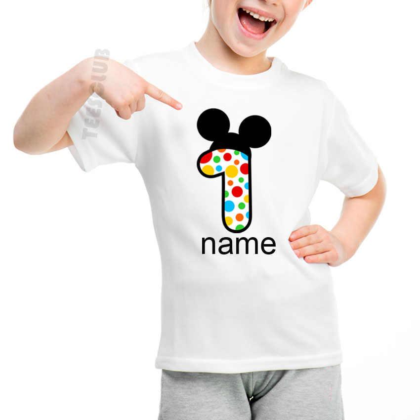 2019 ชายหนุ่มฤดูร้อนวันเกิด Party เสื้อ T น่ารักหมายเลข 1 ถึง 5 วันเกิด Persent เด็กเสื้อยืดแขนสั้นตลกเสื้อ