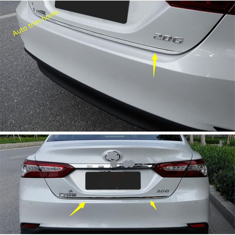 Stainless Steel Rear Trunk Lid Cover Trim For Toyota Camry 2018 1Pcs