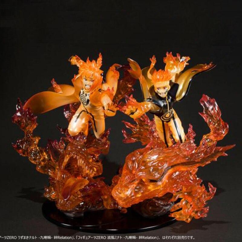 23 cm Anime f-zero Uzumaki Naruto Kurama kyuubi PVC acción figura Zero Namikaze Minato colección modelo de juguete
