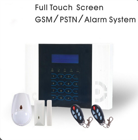 Hot Selling 40Zones Touchscreen GSM PSTN Wireless House Office Alarme System with Dog/Cat Friendly Motion Sensor, Free Shipping dog fence wireless containment system pet wire free fencing kd661