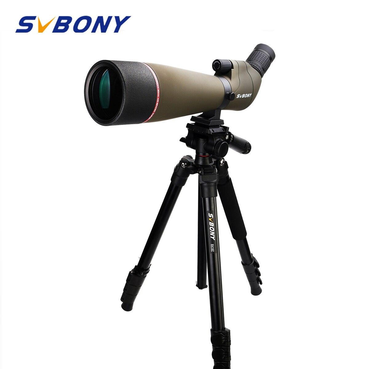 Svbony 80mm Spotting Scope Multi-Coated Optics 20-60x Zoom Refractor 45-Degree Viewing Angle w/ 3KG Max Loading Capacity Tripod