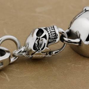 Image 5 - 316L Stainless Steel Huge Skull KeyRing Mens Biker Rock Punk KeyChain 3V006KC
