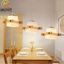 Modern 3 Head Wood Pendant Light for Living Room Hanglamp Lamp Nordic Indoor Decor Lighting Fixtures Bedroom Pendant Luminaire цена