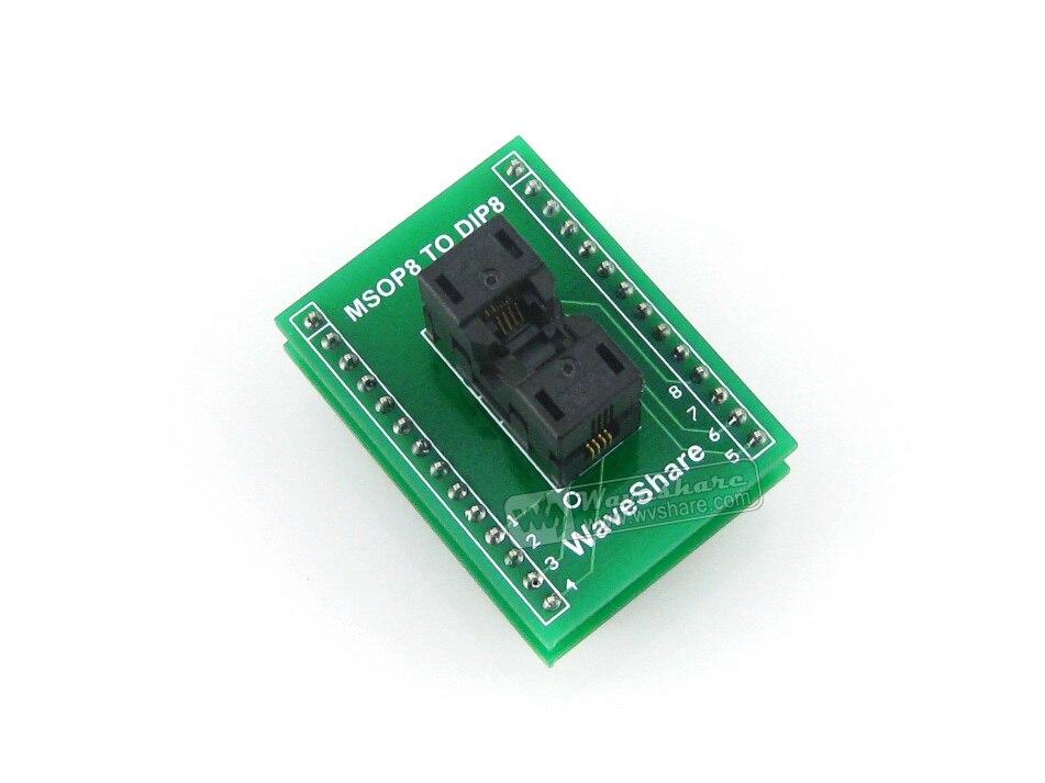 Waveshare SSOP8 à DIP8 (A) TSSOP8 MSOP Wells prise de Test IC 656-1082211 adaptateur de programmation pas de 0.65mm