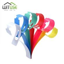100/300pcs 6 צבעים פלסטיק צמח תוויות תג לבן סרט סוג סיר סמן צמח גן קישוטי תוויות + סמן עט