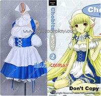 Chobits Cosplay Chii Blue Maid Dress H008