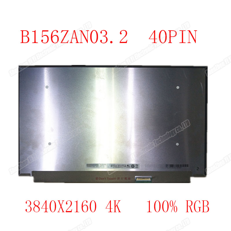15.6 INCH IPS LCD SCREEN <font><b>B156ZAN03.2</b></font> 4K 3840X2160 EDP 40 PIN 100% RGB image