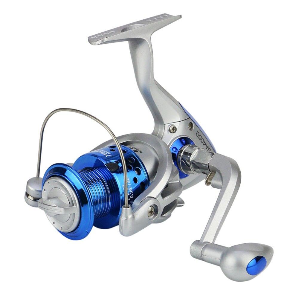 CAMINAR PECES 12BB Media Cabeza De Plástico Balancín Plegable de Metal de Alta Velocidad del punto G Ratio 5.5: 1 Carrete de la Pesca rueda de 2 Colores Availbale