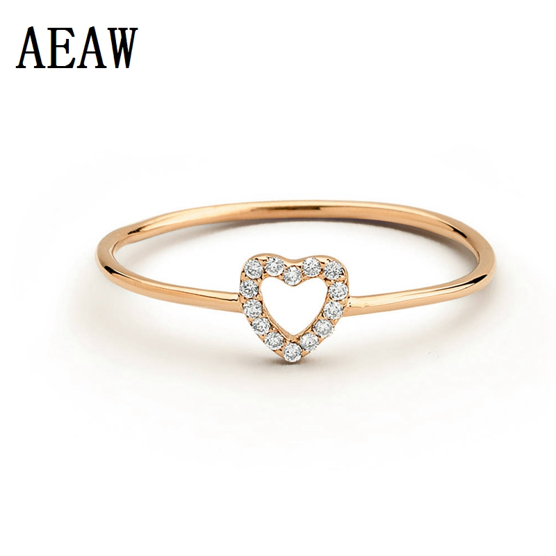 Natural Diamond Ring 14k Gold Women Lover Couple Enagegment Romantic Promise Wedding Party Ring For LadyNatural Diamond Ring 14k Gold Women Lover Couple Enagegment Romantic Promise Wedding Party Ring For Lady