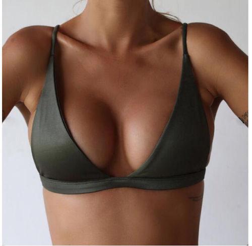 Sexy Women Cute Girl Set Push UpU Ultrathin Padded Bandage Bikini Top Swimwear Swimsuit Solid Beachwear Only Top Also A Bra 2