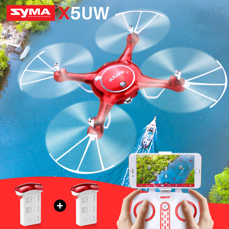SYMA X5UW RC Drone With Camera HD Wifi FPV Real-time Transmission Quadrocopter Helicopter Drones SmartPhone Control Dron Toys цена