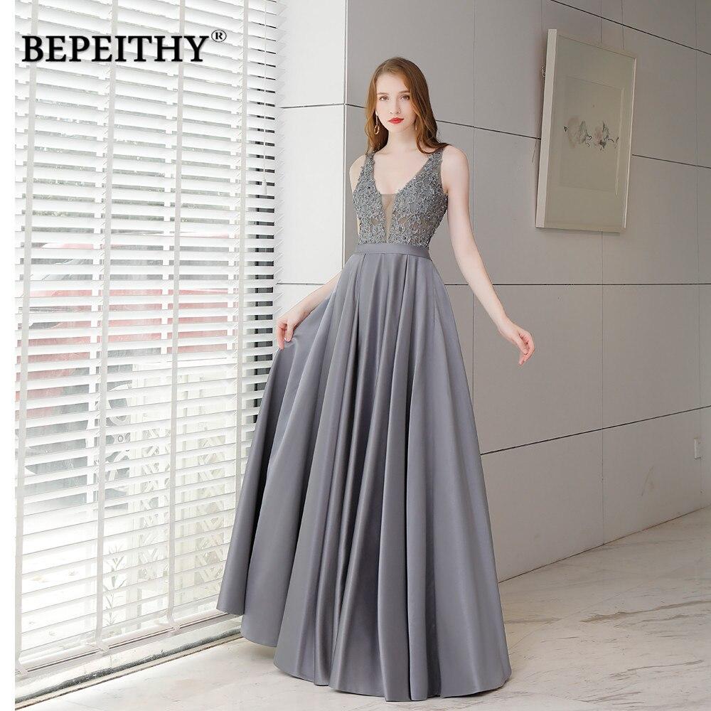 Vestido Longo V Neck Long Evening   Dress   Party   Dresses   Sexy Open Back Cheap   Prom   Gown Long   Dress   2019