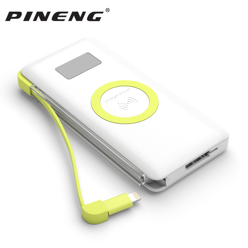 Pineng 10000mah Power Bank PN 888 Portable Battery Mobile Li Polymer PowerBank Support Wireless Quick Charge 3.0 For iphoneX