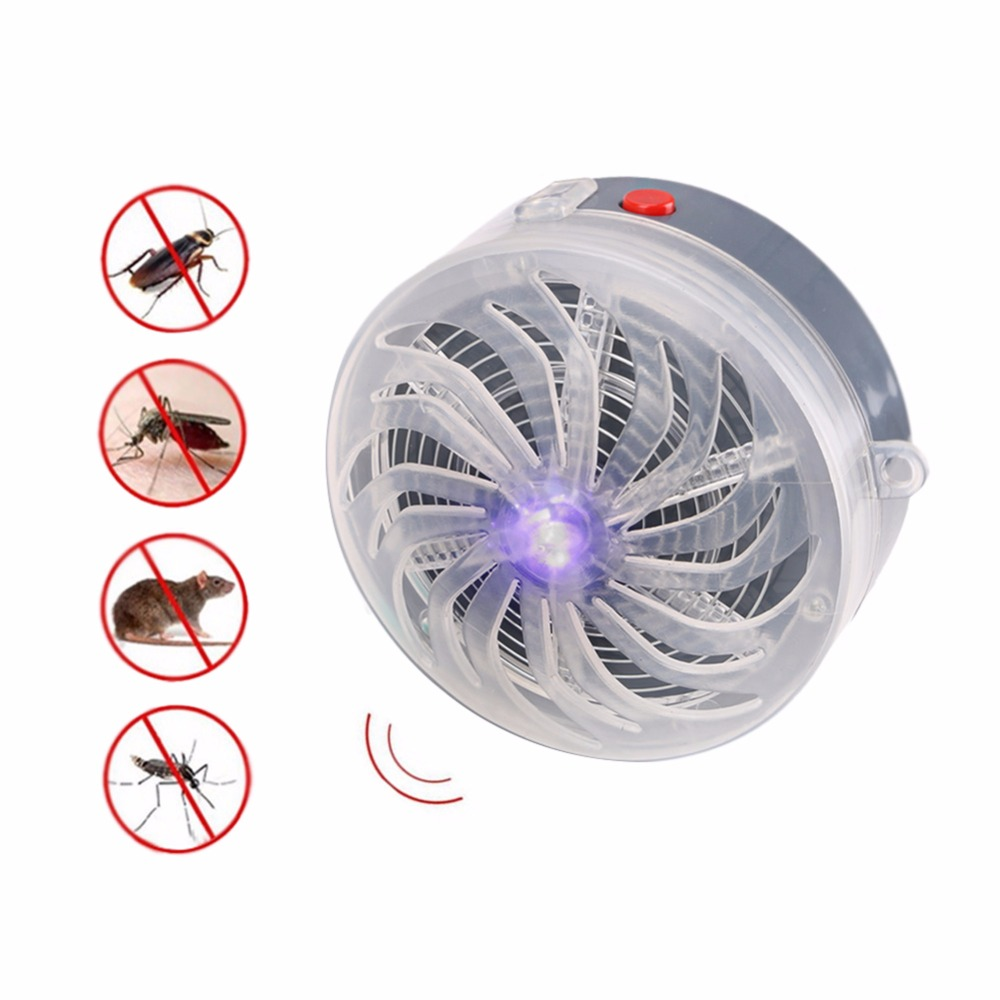 Solar Powered Buzz UV Lamp Light Fly Insect Bug Mosquito Killer Lamp Zapper Electric Fly Trap Electronic Anti Insect Bug Wasp