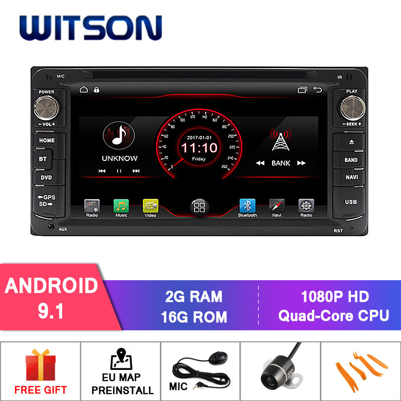 WITSON Android 9 1 CAR DVD GPS For TOYOTA COROLLA RAV4 VIOS HILUX Terios CAR DVD