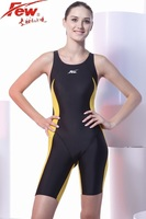 Few Fina approved one piece competition knee length chlorine resistant women's swimwear professional gril's racing swimsuit