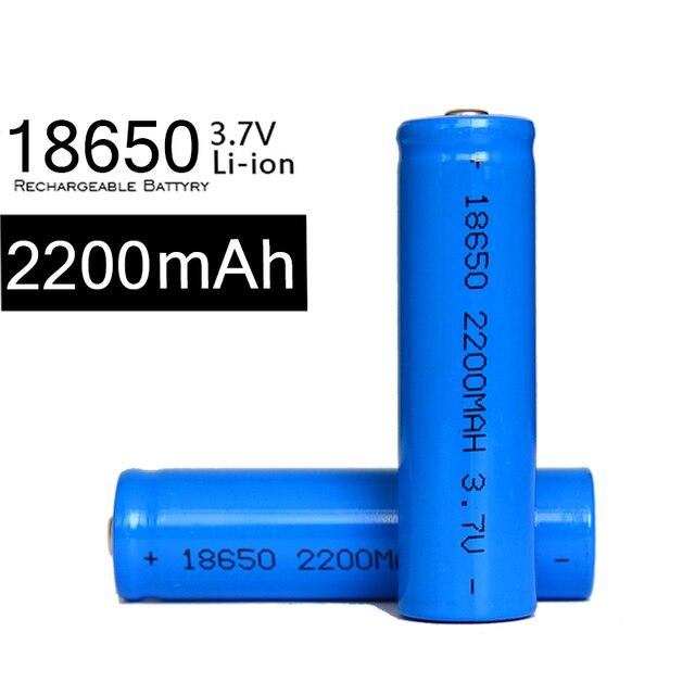 Gran capacidad 4 unids 3,7 mAh 18650 V Batterie 2200 Li