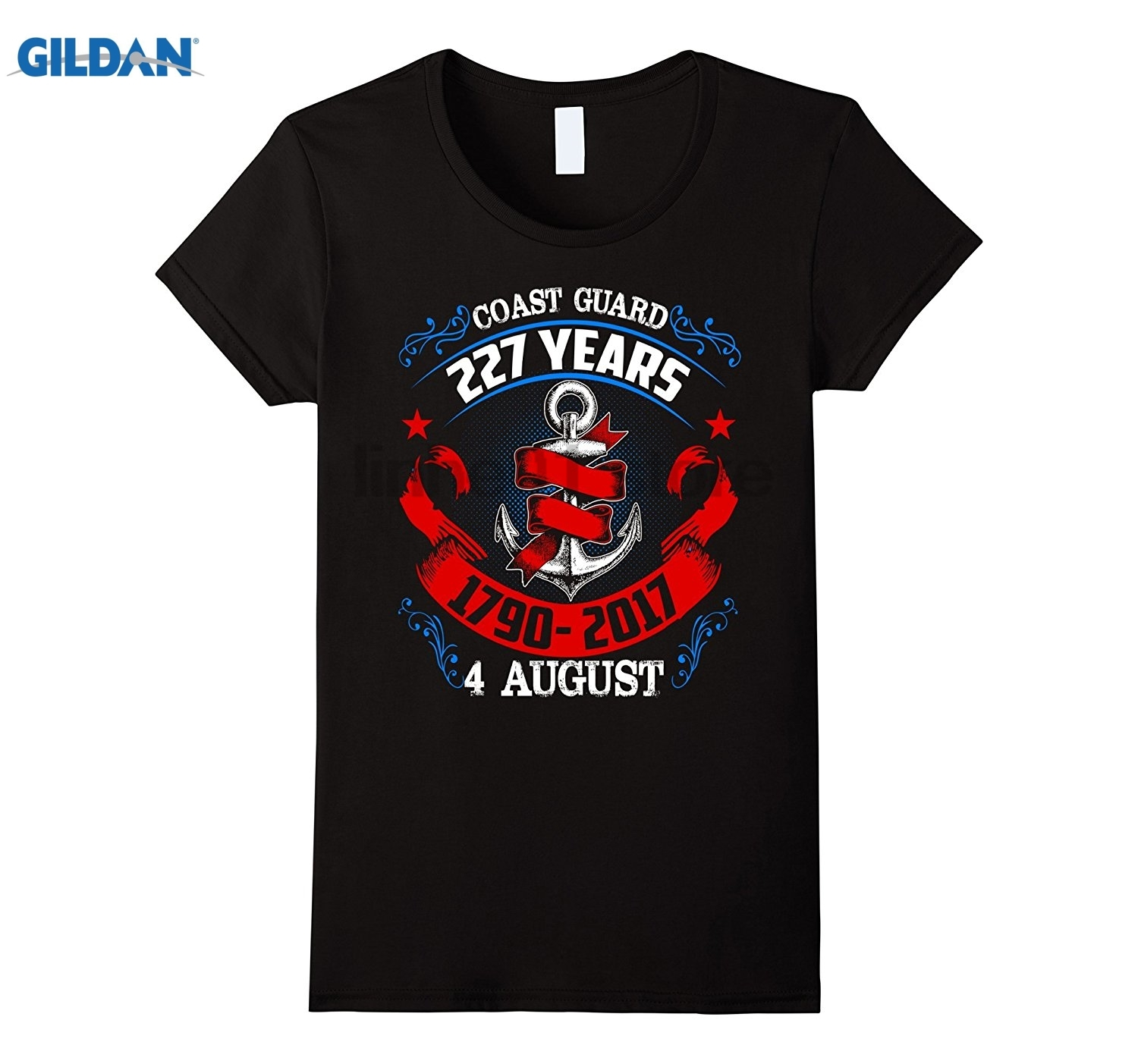 GILDAN Coast Guard Day Shirt 227 Years sunglasses women T-shirt