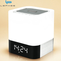 Mini Touch LED Light Bluetooth Wireless Speaker HIFI 3D Stereo Bass Box Alarm Clock Calendar