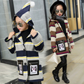 Winter style of children's clothing han edition 2016 cuhk children's leather bag in woolen cloth coat long coat