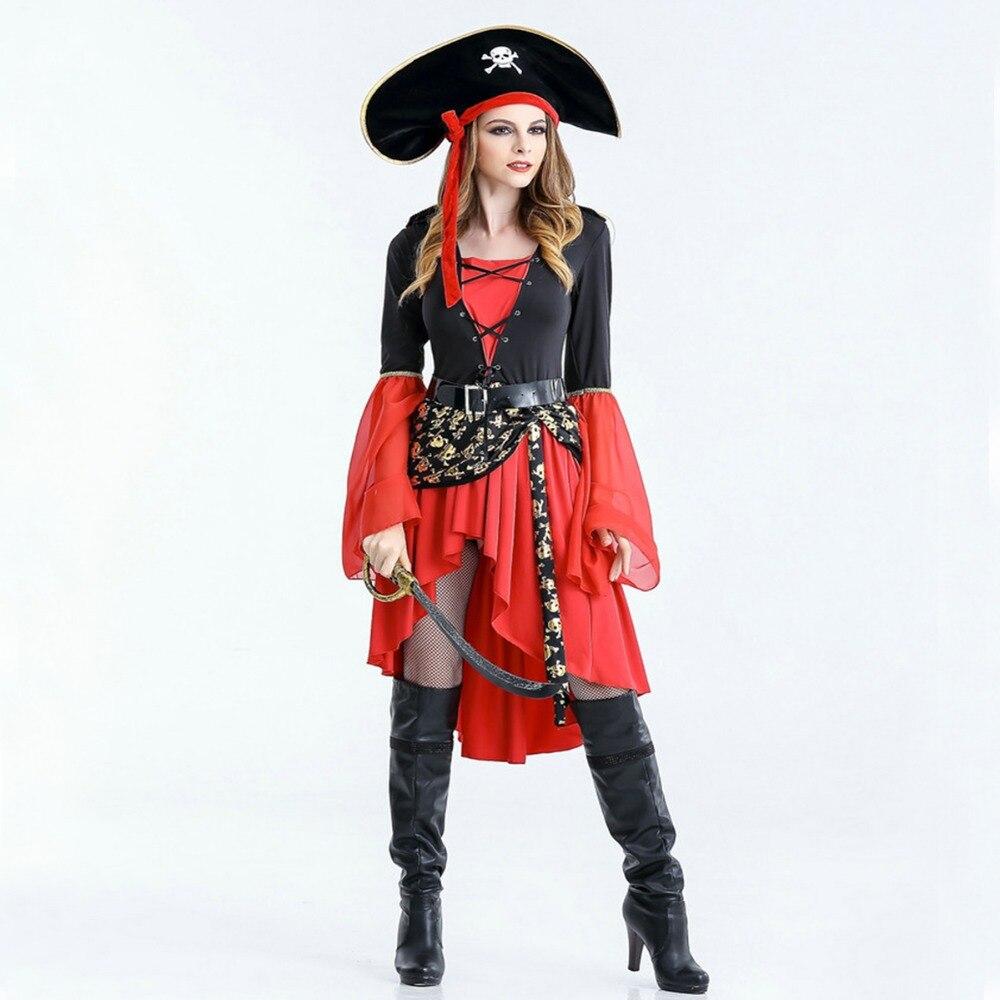 free shipping women pirate dress 2018 new halloween costume suit