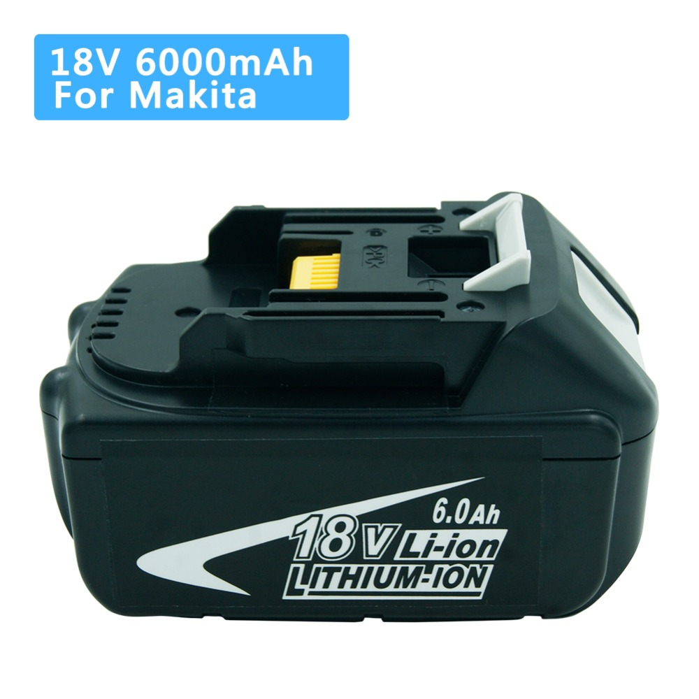 Batterie de remplacement Lithium-ion 18 V 6000 mAh BL1860 pour outil électrique sans fil Makita BL1850 BL1840 BL1830 BL1850 LXT400