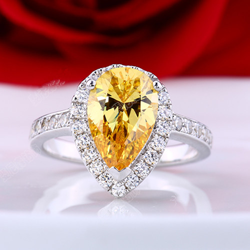 gold width rings wedding band diamond v bezel eternity stackable yellow ring p