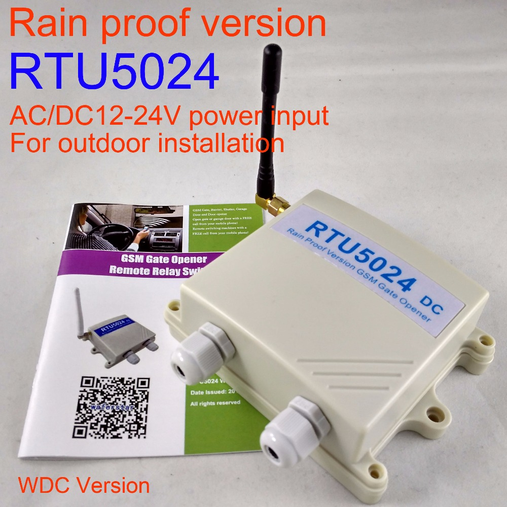 Rain proof DC version Wireless Automaitc Door Sliding gate Opener RTU5024 GSM Gate Opener Relay Switch Remote Access Control via gsm key dc200 direct factory gprs server supported sliding gate gsm security remote access opener maximum working phone 200