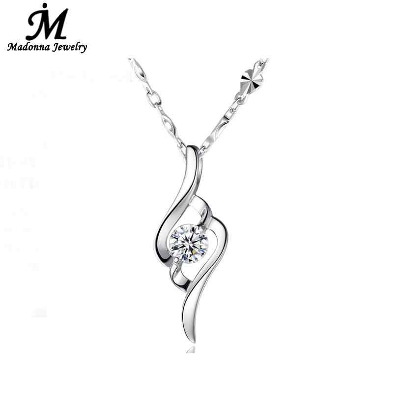 Fashion Jewelry Silver Plated Pendant Elegant Music Pendant Simple Ladies Korean Style crystal charm Women Jewelry Wholesale