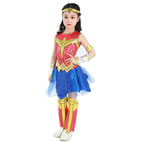 New Wonder Woman Girls Princess Diana Dress Up Halloween Supergirl Cosplay Costume Deluxe Child Dawn Of
